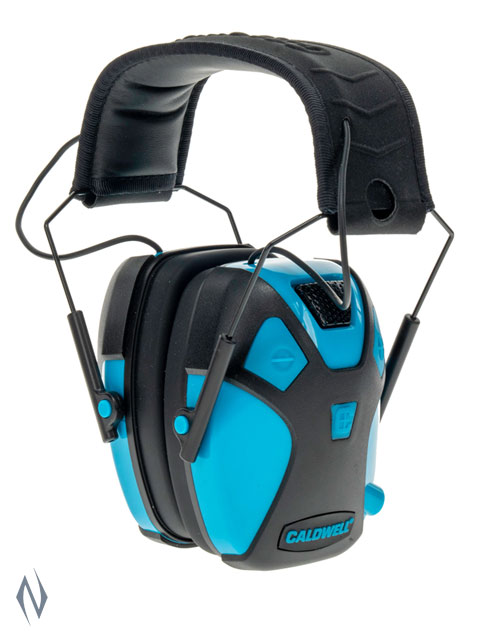CALDWELL EMAX PRO YOUTH ELECTRONIC EAR MUFFS NEON BLUE Image
