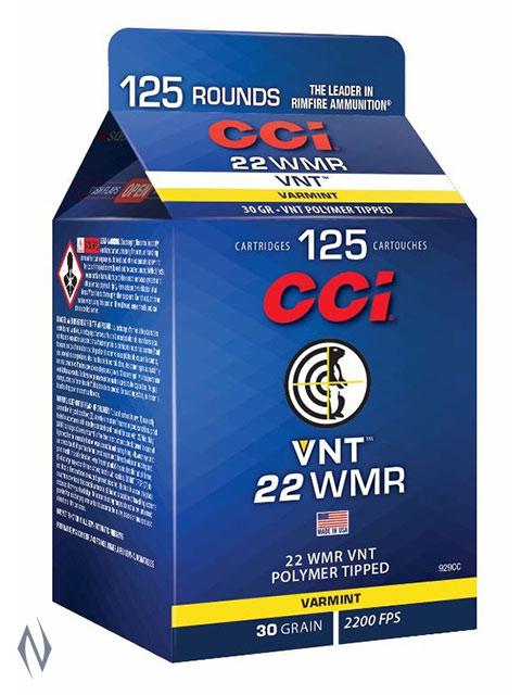 CCI 22WMR VNT 30GR 125 RND POUR PACK Image