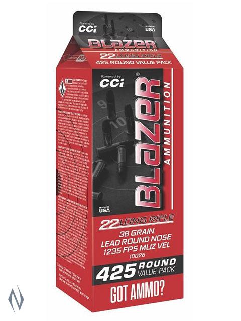 CCI 22LR BLAZER 38GR LRN 425 RND POUR PACK Image