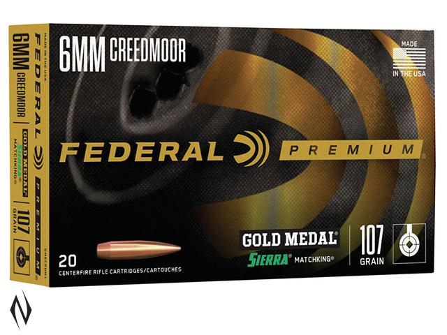 FEDERAL 6MM CREEDMOOR 107GR MATCHKING GOLD MEDAL Image