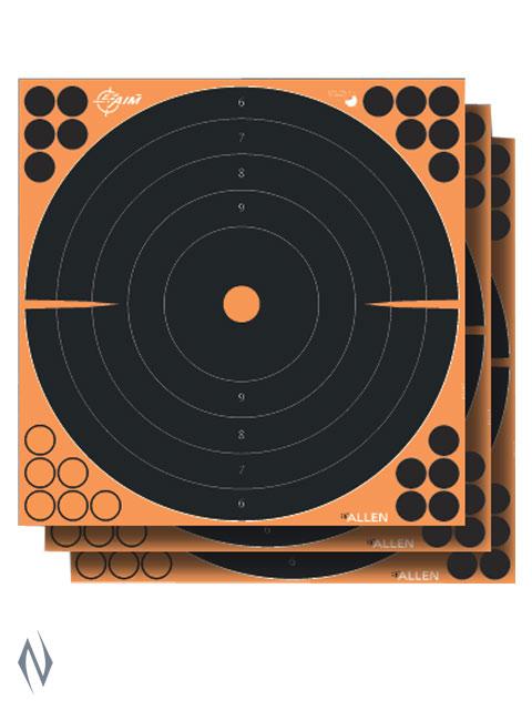 "ALLEN EZ AIM SPLASH ADHESIVE 12"" BULLSEYE TARGET 5PK Image"