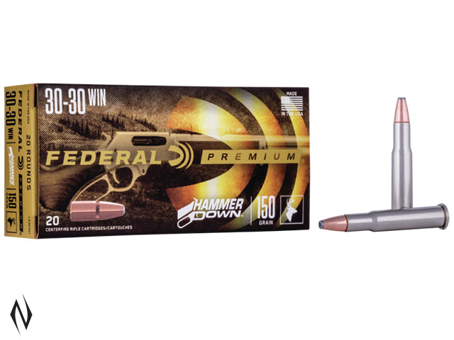 FEDERAL 30-30 WIN 150GR FN HAMMER DOWN Image
