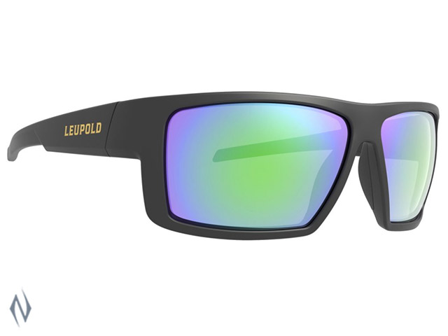 LEUPOLD SUNGLASSES SWITCHBACK MATTE BLACK EMERALD MIRROR Image