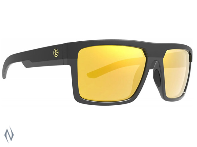 LEUPOLD SUNGLASSES BECNARA MATTE & GLOSS BLACK ORANGE MIRROR Image
