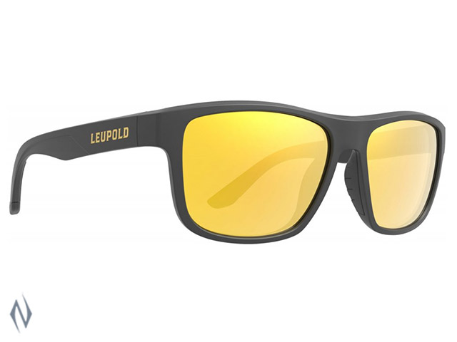 LEUPOLD SUNGLASSES KATMAI MATTE BLACK ORANGE MIRROR Image