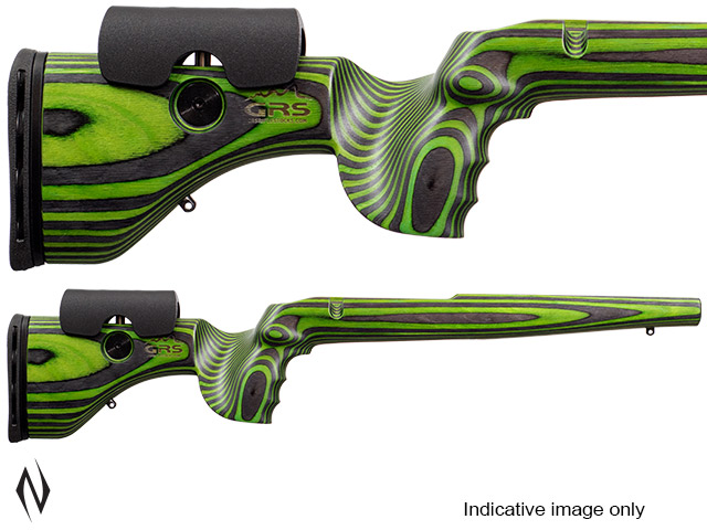 GRS HUNTER LIGHT STOCK RUGER 77 LA BLACK / GREEN Image