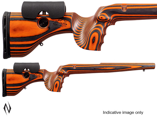 GRS HUNTER LIGHT STOCK RUGER 77 LA ORANGE / BLACK Image