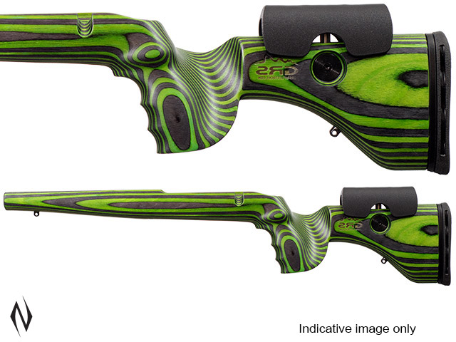 GRS HUNTER LIGHT STOCK TIKKA T3/ T3X BLACK / GREEN LEFT HAND Image