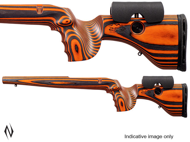 GRS HUNTER LIGHT STOCK TIKKA T3/ T3X ORANGE / BLACK LEFT HAND Image
