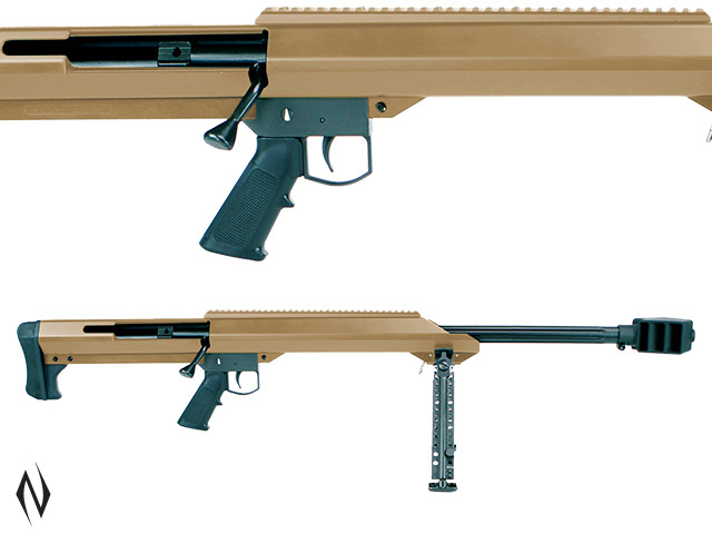 "BARRETT M99 50 BMG 29"" FLUTED SINGLE SHOT FDE WITH BIPOD Image"