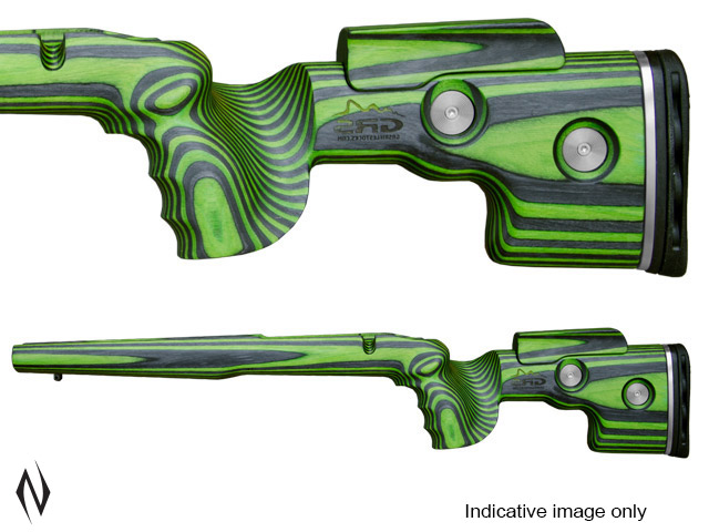 GRS SPORTER STOCK HOWA SA BLACK / GREEN LH WITH RH INLET Image