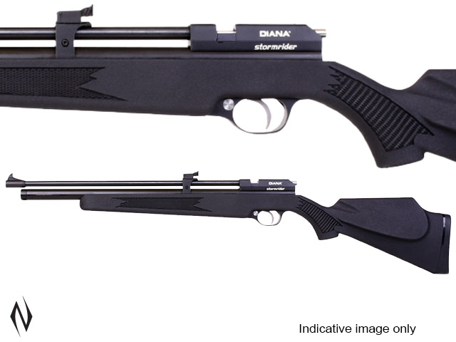 DIANA STORMRIDER BLACK PCP .177 9 SHOT AIR RIFLE Image