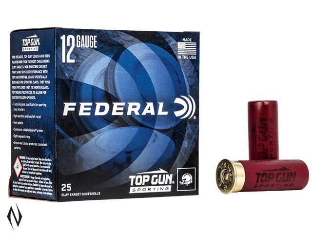 FEDERAL 12G 28GR 7.5 TOPGUN SPORTING 1250FPS Image
