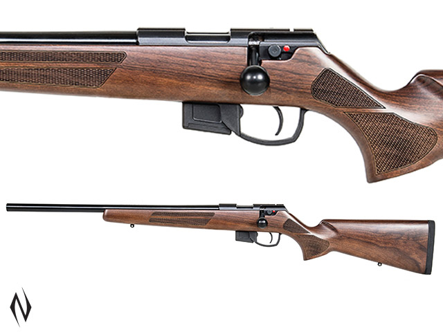 "ANSCHUTZ 1761 DHB CLASSIC HEAVY BARREL 20"" 22WMR 5 SHOT LEFT HAND Image"