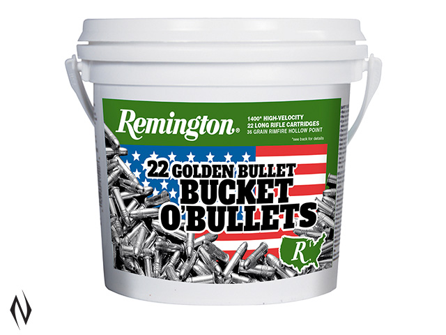 REMINGTON 22LR 36GR HV HP GOLDEN BUCKET O BULLETS 1400 PK 1280FPS Image