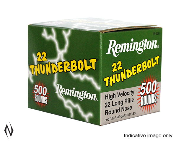 REMINGTON 22LR 40GR HV RN THUNDERBOLT 500 PK 1255FPS Image