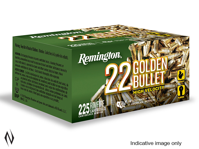 REMINGTON 22LR 36GR HV HP GOLDEN BULLET 225 PK 1280FPS Image