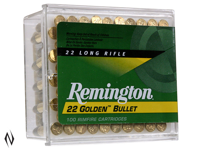REMINGTON 22LR 40GR HV RN GOLDEN BULLET 100 PK 1255FPS Image
