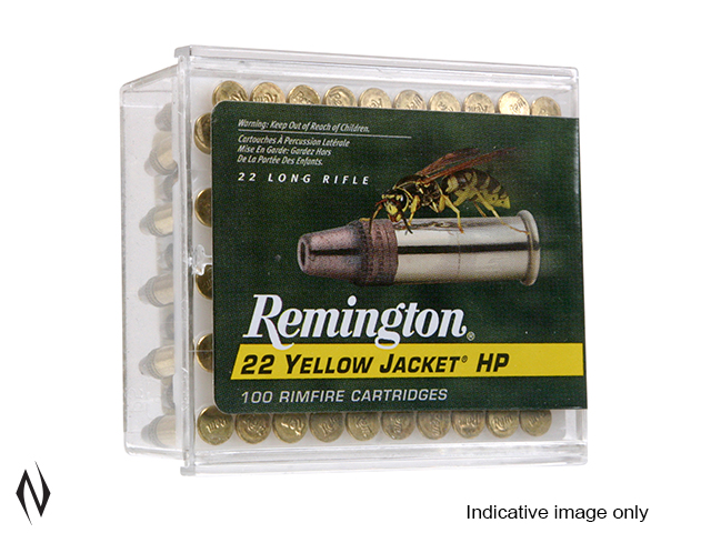 REMINGTON 22LR 33GR TCHP YELLOW JACKET HYPER VELOCITY 100 PK 1500FPS Image