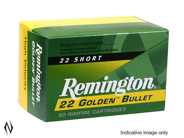 REMINGTON 22 SHORT 29GR HV RN GOLDEN BULLET 100 PK 1095FPS Image