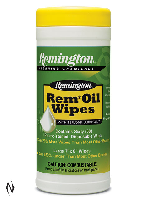 REMINGTON REM OIL WIPES 60PK Image