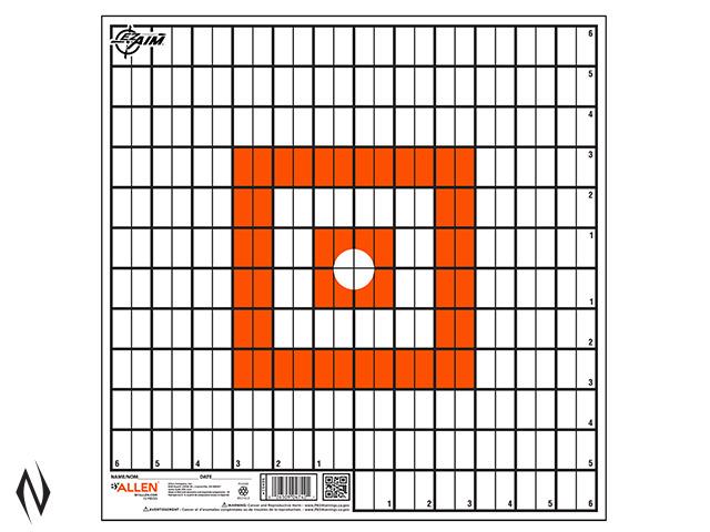 """ALLEN EZ AIM PAPER 12""""x12"""" GRID TARGET 12PK Image"""