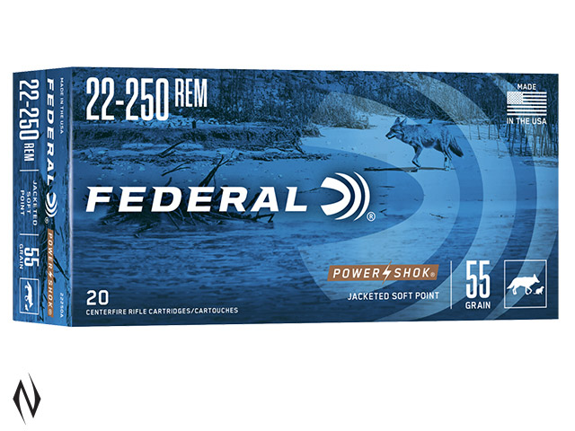 FEDERAL 22-250 REM 55GR SP POWER-SHOK Image