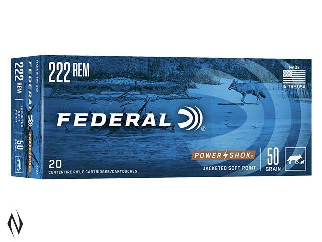 FEDERAL 222 REM 50GR SP POWER-SHOK Image