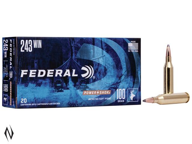 FEDERAL 243 WIN 100GR SP POWER-SHOK Image