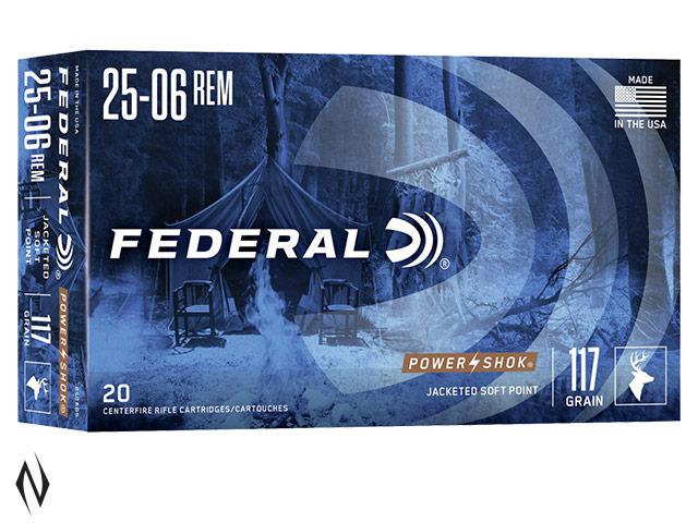 FEDERAL 25-06 REM 117GR SP POWER-SHOK Image