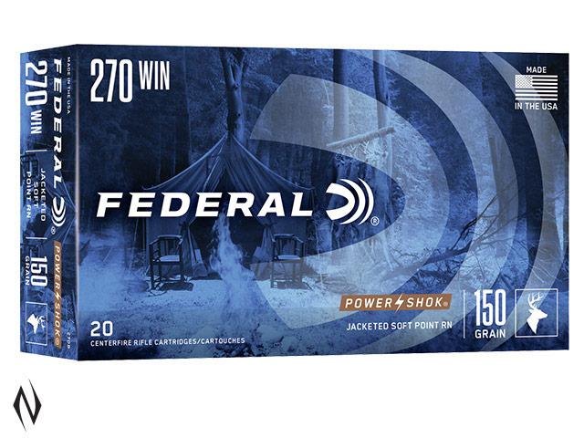 FEDERAL 270 WIN 150GR SP POWER-SHOK Image