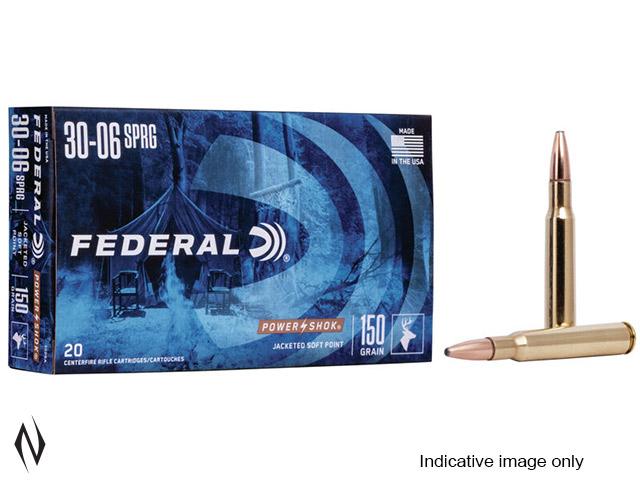 FEDERAL 30-06 SPR 220GR RN POWER-SHOK Image