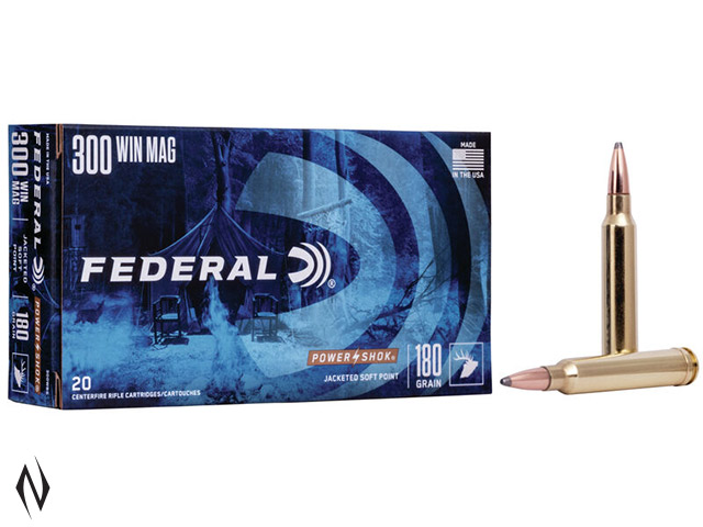 FEDERAL 300 WIN MAG 180GR SP POWER-SHOK Image
