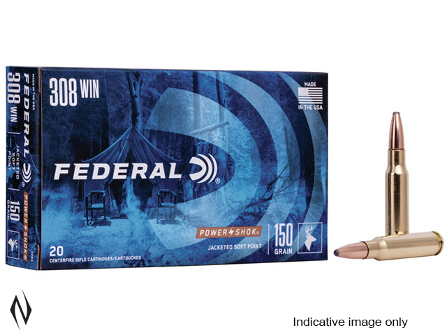 FEDERAL 308 WIN 180GR SP POWER-SHOK Image
