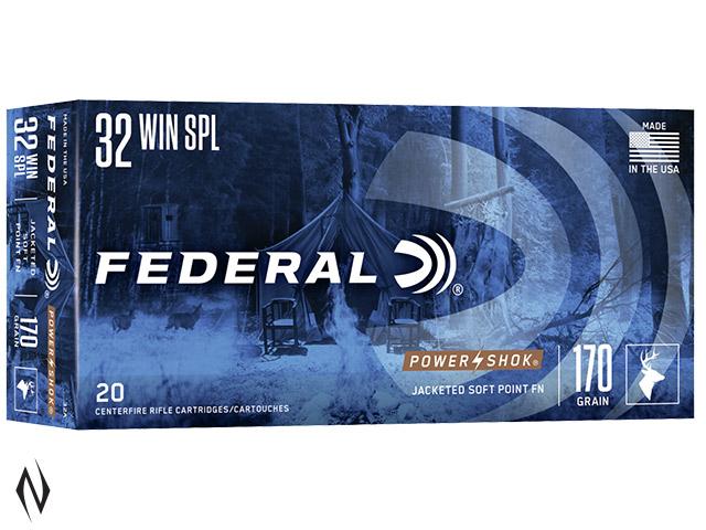 FEDERAL 32 WIN SPEC 170GR JSP POWER-SHOK Image