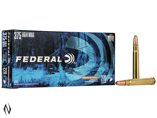 FEDERAL 375 H&H 270GR SP POWER-SHOK Image