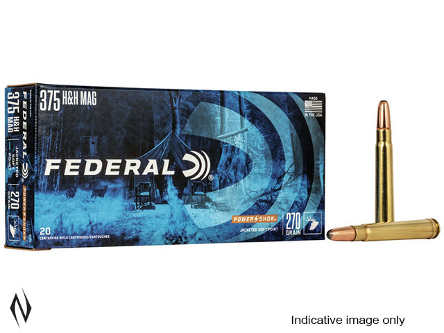 FEDERAL 375 H&H 300GR SP POWER-SHOK Image