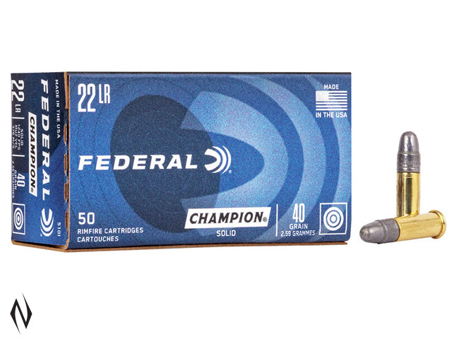 FEDERAL 22LR 40GR SOLID HV CHAMPION 1240FPS Image