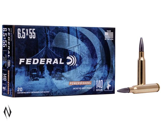 FEDERAL 6.5X55 SWED 140GR SP POWER-SHOK Image