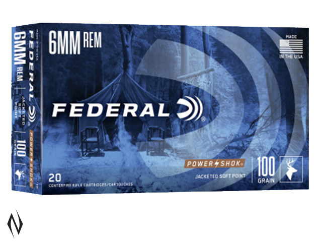 FEDERAL 6MM REM 100GR SP POWER-SHOK Image