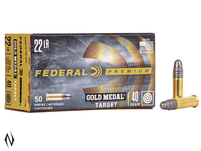 FEDERAL 22LR 40GR SOLID SV GOLD MEDAL 1080FPS Image