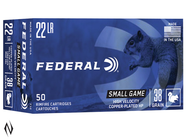 FEDERAL 22LR 38GR HP HV GAME-SHOK 1260FPS Image