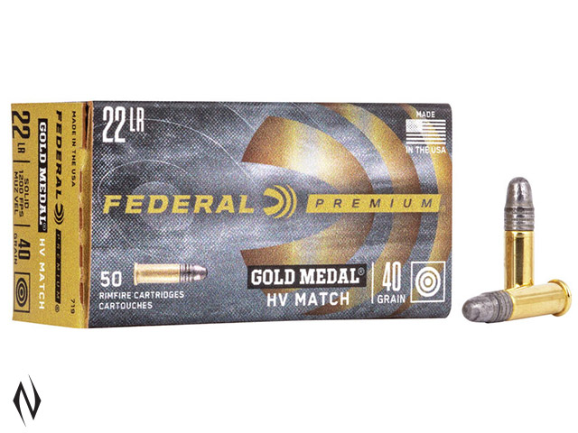 FEDERAL 22LR 40GR SOLID HV GOLD MEDAL 1200FPS Image