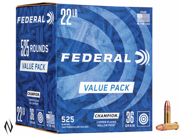FEDERAL 22LR 36GR HP HV CHAMPION 525 PK 1260FPS Image