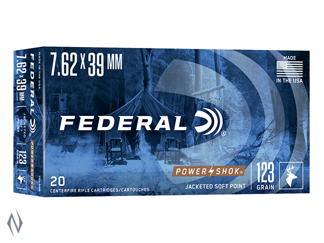 FEDERAL 7.62X39 123GR SP POWER-SHOK Image