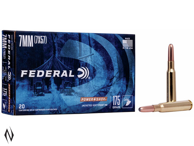 FEDERAL 7MM MAUSER 175GR SP RN POWER-SHOK Image