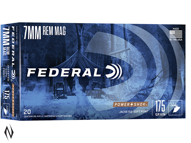 FEDERAL 7MM REM MAG 175GR SP POWER-SHOK Image