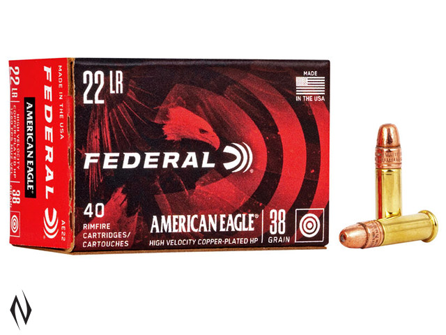 FEDERAL 22LR 38GR HP HV AMERICAN EAGLE 40PK 1260FPS Image