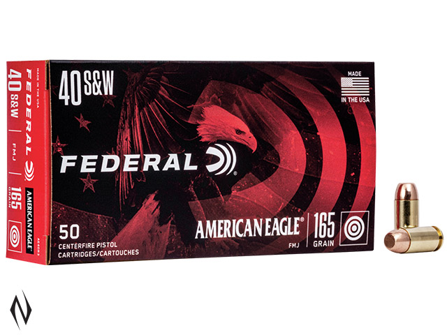 FEDERAL 40 S&W 165GR FMJ AMERICAN EAGLE Image