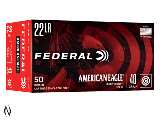 FEDERAL 22LR 40GR SOLID LEAD HV AMERICAN EAGLE 1260FPS Image